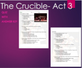 The Crucible Act 3 Quiz with ANSWER KEY -Arthur Miller