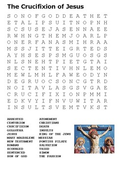 The Crucifixion of Jesus Word Search