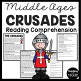 The Crusades Reading Comprehension; Middle Ages, Religion, Christianity; Islam