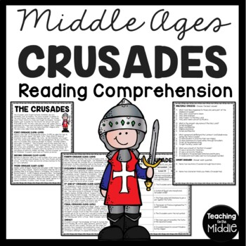 The Crusades Article, Chart, Questions, Middle Ages, Relig