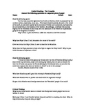 The Crusades, Guided Reading, Worksheet, Handout.   History 101