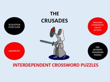 The Crusades: Interdependent Crossword Puzzles Activity