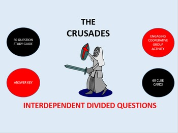 The Crusades: Interdependent Divided Questions Activity