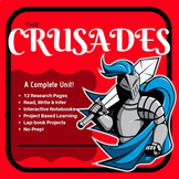 The Crusades Lap book and Interactive Notebook Pages