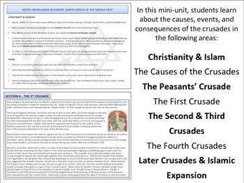 The Crusades - Mini Unit