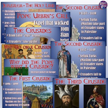 The Crusades PowerPoint and Flipped Lesson