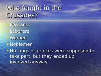 The Crusades PowerPoint presentation