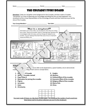 The Crusades Storyboard Project