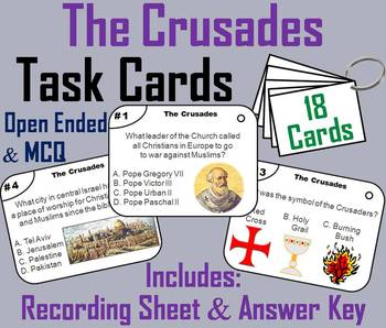 The Crusades Task Cards