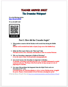 The Crusades Webquest