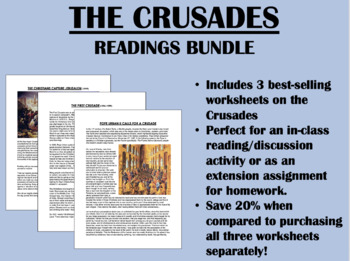 The Crusades readings bundle - Global/World History Common Core