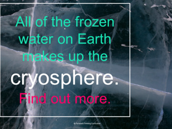 The Cryosphere Webquest: Earth's Frozen Sphere (Water Cycle and Earth Science)