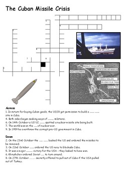 The Cuban Missile Crisis Crossword