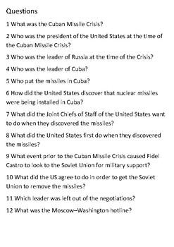 The Cuban Missile Crisis Handout