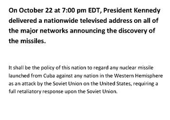 The Cuban Missile Crisis JFK Message Puzzle