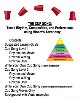 The Cup Song: Teaching Rhythm, Composition & Performance using Bloom's Taxonomy