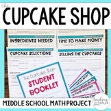 Middle School Math Project - The Cupcake Shop