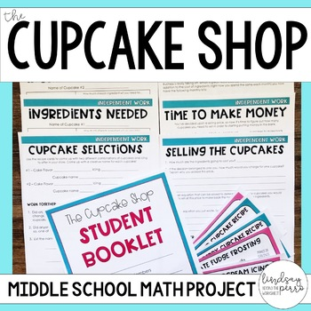 Decimals teaching resources lesson plans teachers pay teachers middle school math project the cupcake shop fandeluxe Image collections