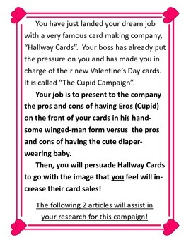 The Cupid Campaign:Greek/Roman Mythology and Paired Texts