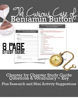 The Curious Case of Benjamin Button StudyGuide and Activities