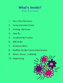The Curious Garden Reading Resource