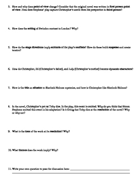 The Curious Incident of the Dog Socratic Seminar Discussion Questions