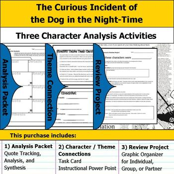 The Curious Incident of the Dog in the Night-Time Character Analysis Activities