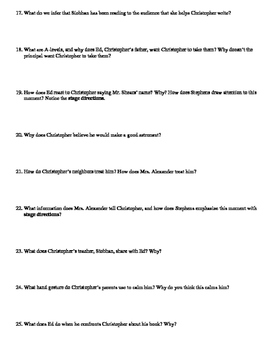 The Curious Incident of the Dog in the Night-Time Play Study Guide Packet