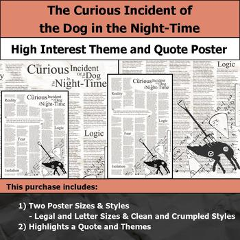 The Curious Incident of the Dog in the Night-Time - Theme and Quote Poster