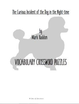 The Curious Incident of the Dog in the Night-time Vocabulary Crossword Bundle