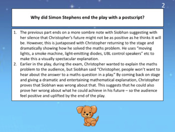The Curious Incident (play) - lesson on how Siobhan is presented