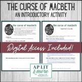 The Curse of Macbeth Activity