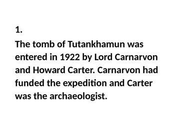 The Curse of Tutankhamun?
