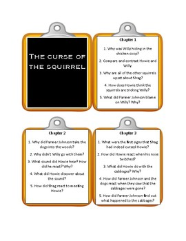 THE CURSE OF THE SQUIRREL by Laurence Yep * Discussion Cards