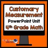 Customary Measurement Math Unit 4th Grade Common Core