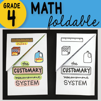 Math Doodle - The Customary Measurement System ~ INB Foldable Notes ~