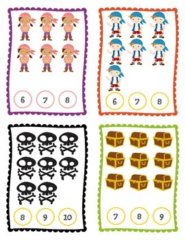 The Cute Pirates Counting Clips: Numbers 2-20