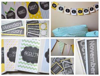 The Cute and Cozy Classroom {Editable Decor Pack with a Touch of Chalkboard Fun}