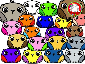 The Cutest Ever Little Owl Clipart (Personal & Commercial Use)