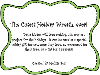 The Cutest Holiday Wreath Project, Ever! art project wreath crafts Christmas