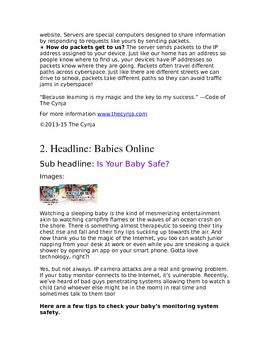 The Cynja® Newsletter Content About Family Cybersecurity Issue 1
