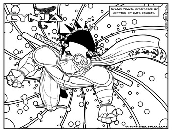 The Cynja® Data Packet Coloring Page