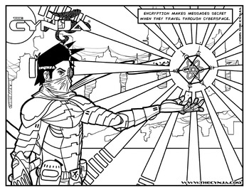 The Cynja® Encryption Coloring Page
