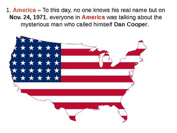 The DB Cooper Mystery Story and Quiz