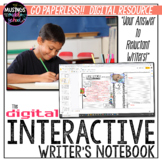 The DIGITAL Interactive Writer's Notebook - Distance Learning
