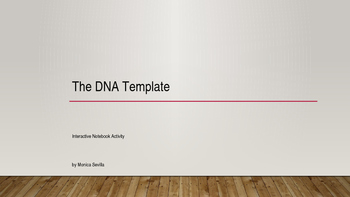 The DNA Template Interactive Notebook Activity PPT