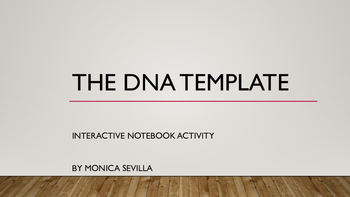 The DNA Template Interactive Notebook Activity eBook