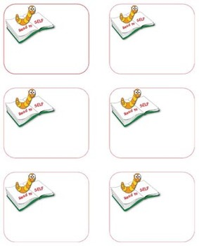 The Daily 5- Book Center Labels- Bookworm theme