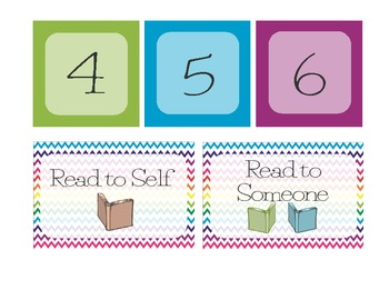 The Daily 5 Center Organizer, Pocket Chart Printable, The Daily 5 Printable