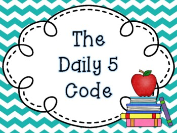The Daily 5 Code Posters {FREEBIE}